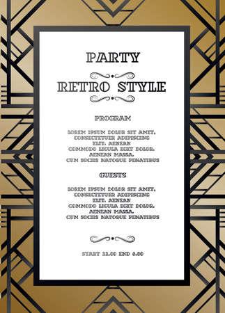 ヴィンテージパーティーのためのレトロなパターン