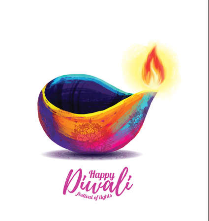 Vector happy diwali