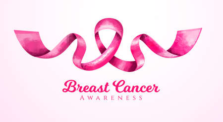 vector Breast Cancer Awareness Month Pink ribbon