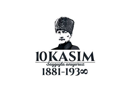 Commemorative banner of death anniversary. Çizim