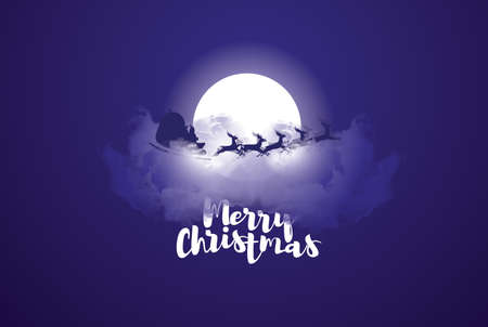 ector illustration. Merry Christmas and Happy New Year 2018 design elements for design of gift cards, brochures, flyers, leaflets, posters. design objects around the inscription on a dark background