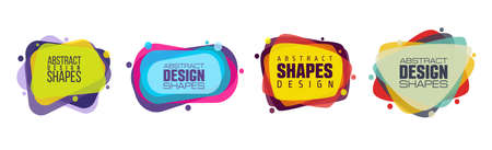 vector illustration abstract shape. colorful creative frames for advertising text,