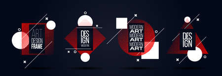 vector illustration creative modern frames. stylish graphics with elements