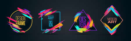 Vector frame for text Modern Art graphics for hipsters . dynamic frame stylish