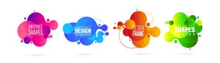 vector illustration. modern organic liquid. graphic frame design for text.