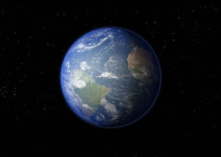 celestial body: Planet Earth.3D rendering Stock Photo