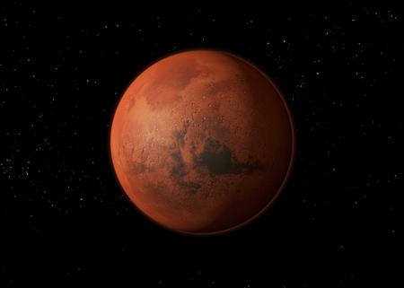 Mars. 3D rendering Stock Photo