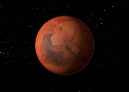 celestial body: Mars. 3D rendering Stock Photo