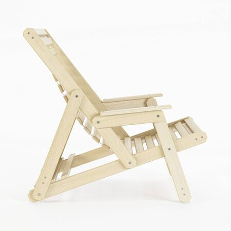 Deckchair over white background. 3D rendering.
