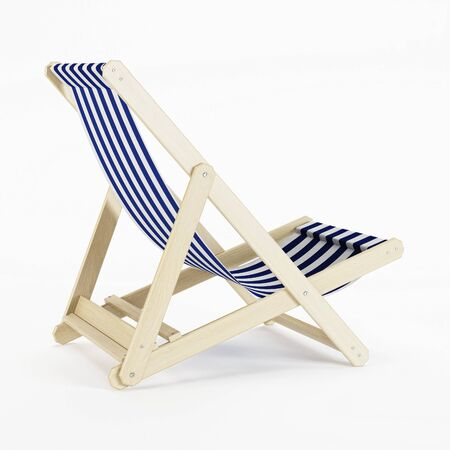 comfortable: Deckchair over white background. 3D rendering.