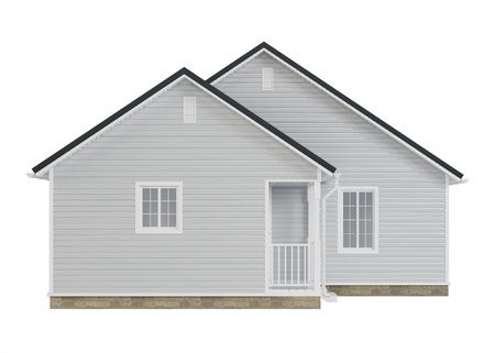 Cozy little house isolated on white background. 3D rendering.