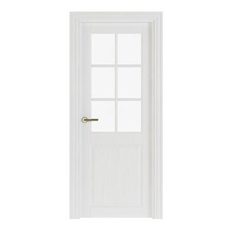 Interroom door isolated on white background. 3D rendering. Stock Photo