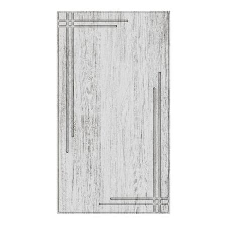 Wooden furniture door isolated on white background. 3D rendering.