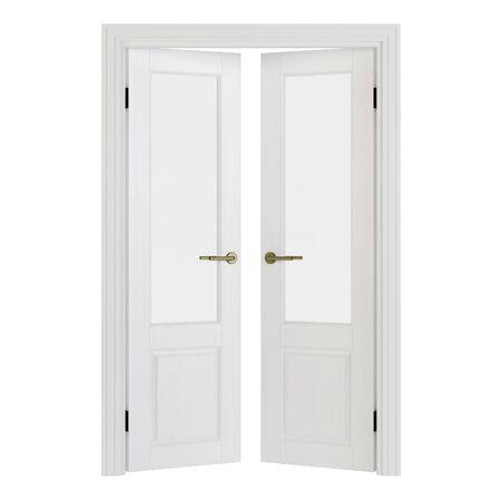 Interroom door isolated on white background. 3D rendering. Stockfoto