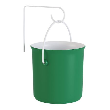 Planter with bracket isolated on a white background. 3D rendering.