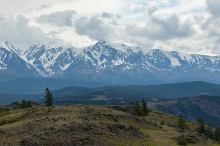 Mountain Landscape in Altai Republic, Russia. Beautiful view