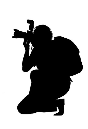 Silhouette of photographer                   photo