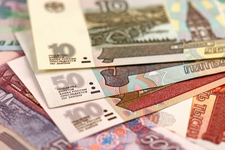 roubles: Russian roubles Stock Photo