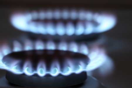 energy consumption: Natural gas stove Stock Photo