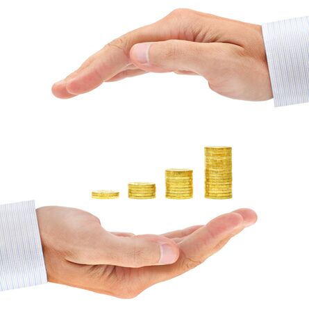 secure growth: Concern about investment. Conceptual business image