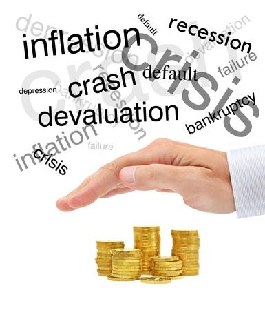 protecting your business: La protecci�n de su dinero. Conceptual imagen empresarial