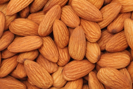 Natural background made from kernel of almonds