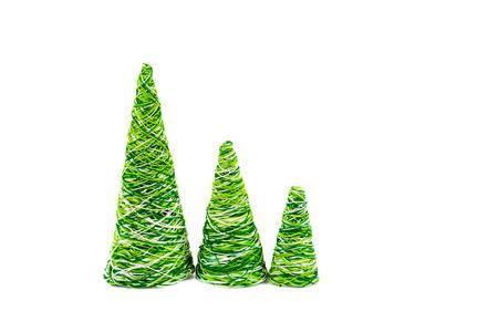 trabajo manual: árbol decorativo creativa Año Nuevo del trabajo hecho a mano con hilos multicolores