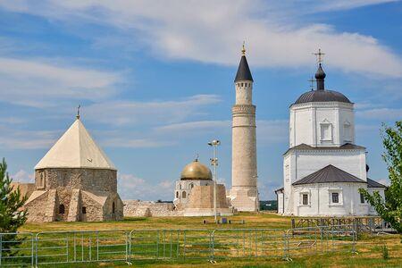 Bulgar historical and archaeological monument near Kazan. Excavations on the site of the capital of the ancient Bulgar Khanate. Reklamní fotografie