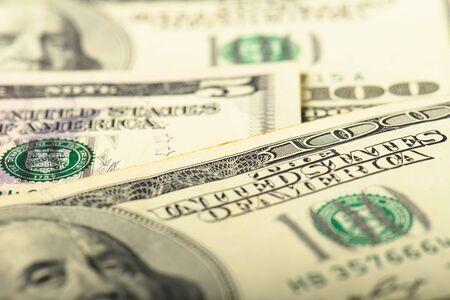 Bargeld-Banknoten-Dollar-Hintergrund. Hintergrund mit Geldbanknote.