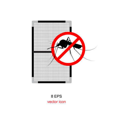 disease prevention: mosquito net icon and symbol