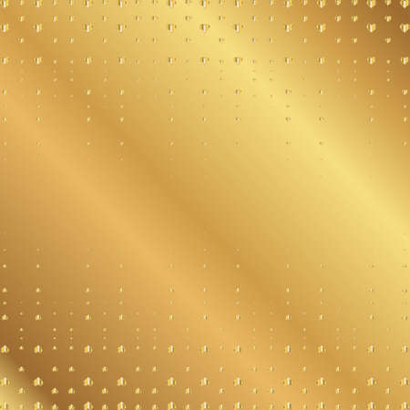golden heart: Vector golden heart on gold metallic background