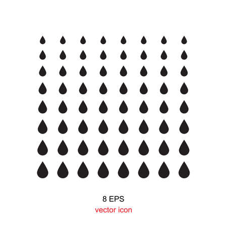 rain drop: black web drop or rain icon on white background