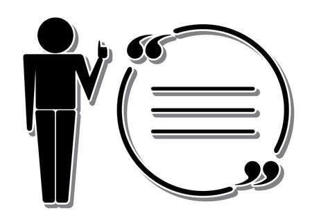 educators: Tutor o profesor icono con cita. Vector aislado en blanco Vectores