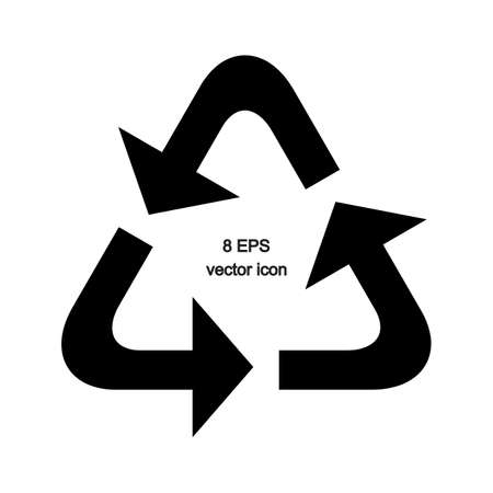 recycle sign: Vector simple triangle recycle sign isolated