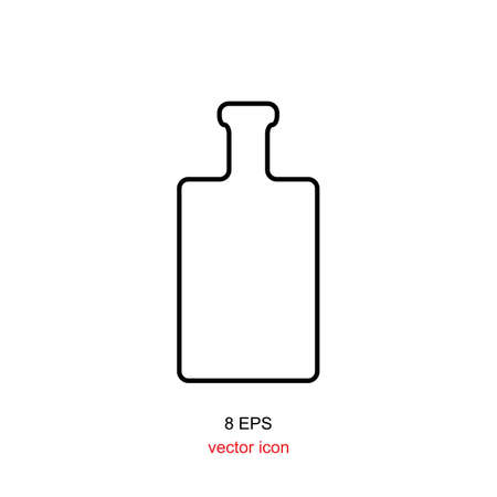 apothecary: Old retro bottle icon. Bottle vector. Vintage bottle silhouette. Old medicine glass bottle isolated.