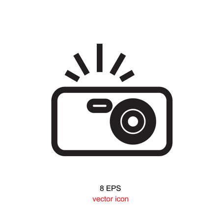 snapshot: Photo camera vector icon isolated. Snapshot sign.
