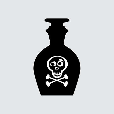 toxin: Poison bottle icon vector isolated Illustration