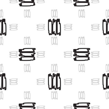 dashes: Hand-drawn seamless pattern with black short dashes