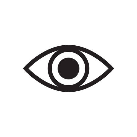 designe: Simple Eye icon vector isolated on white background element for web and designe