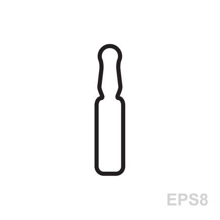phial: Medical ampoule or vaccine vector icon. Simple medical sign isolated