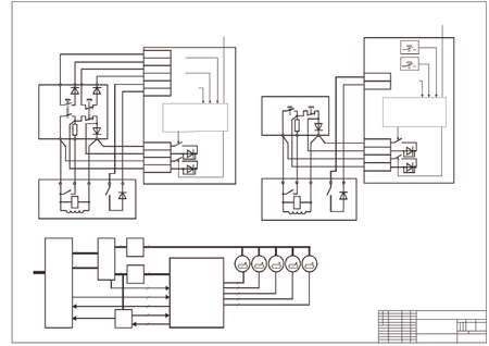 schematic diagram: Schematic diagram, power supply, power circuit. Vector drawing