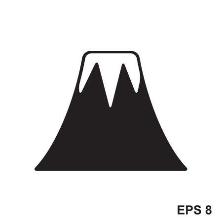 Vulkan-Symbol. Vektor-Zeichen von Berg Vektorgrafik