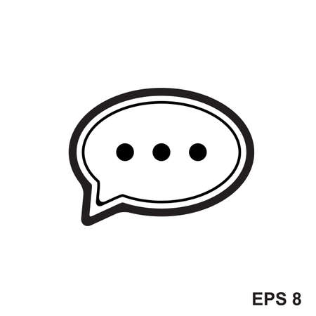 Message, chat, sms, talk icon. Speech bubble sign  イラスト・ベクター素材