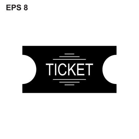 event icon: Simple ticket  icon isolated on white background. Vector illustration. Illustration