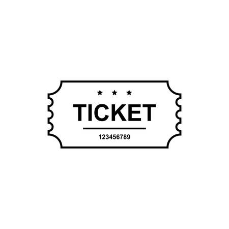 permission: Simple ticket  icon isolated on white background. Vector illustration. Illustration