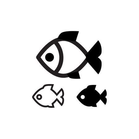 graphic icon: Fish vector icon  isolated Illustration