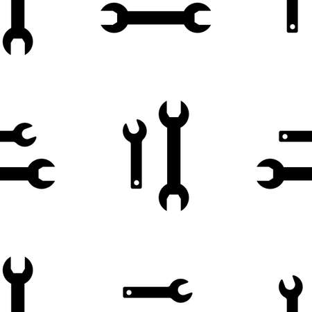 tooling: Tool Icon background. Seamless pattern with wrench vector illustration