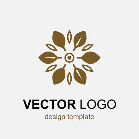 holistic health: Modern stylish organic  design element in thin line style. Trendy vector template. Ecology, natural concept of alternative medicine, eco friendly product. Illustration