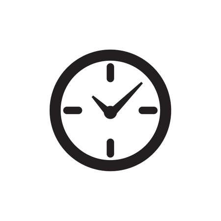 Vector time or clock icon,   template, pictogram. Modern emblem for business, market, shop, internet, design. Trendy simple watch, timepiece or timer, symbol.