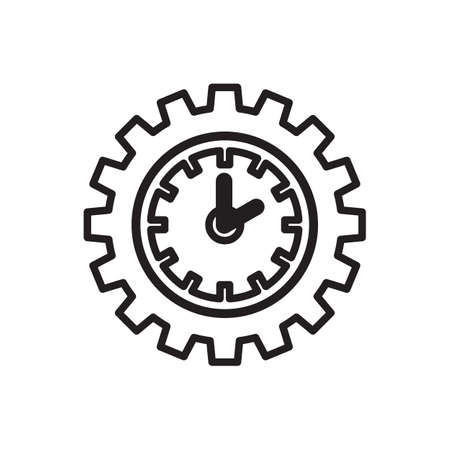timepiece: Vector time or clock icon template, pictogram. Modern emblem for business, market, shop, internet, design. Trendy simple watch, timepiece or timer, symbol. Illustration